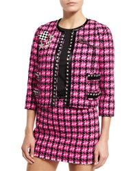 Marc Jacobs Embellished Tweed Jacket Pink