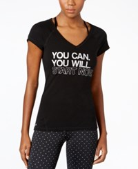Ideology You Can Graphic V Neck T Shirt Only At Macy's Noir