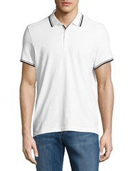 Kenneth Cole Contrast Short Sleeve Polo White