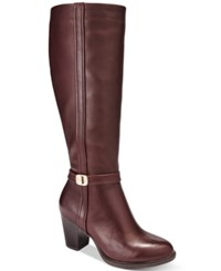 Giani Bernini Raiven Tall Wide Calf Boots Only At Macy's Women's Shoes Oxblood