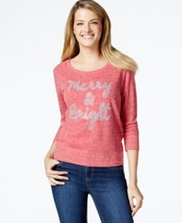 Styleandco. Style And Co. Sport Petite Holiday Graphic Sweater New Red Amore