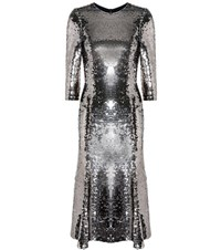 Dolce And Gabbana Sequinned Dress Silver