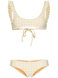 Made By Dawn Petal Scoop Neck Bikini Set Yellow
