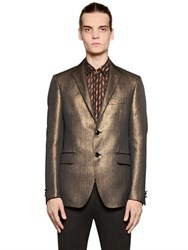 Etro Woven Cotton Blend Suiting Jacket