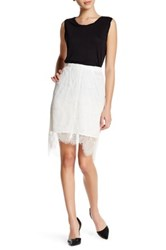 Cupcakes And Cashmere Lace Knit Skirt White