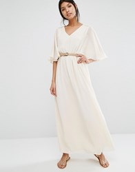 Mango Angel Sleeve Maxi Cream