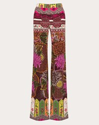 Valentino Printed Crepe De Chine Trousers Multicoloured Silk 100