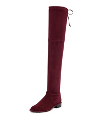 Stuart Weitzman Lowland Stretch Suede Over The Knee Boot Bordeaux