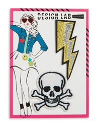 Design Lab Lord And Taylor Skull Bolt Patches Multi Colored