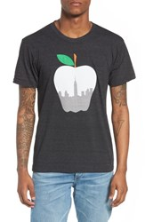 Casual Industrees Ny Apple Graphic T Shirt Tri Blak