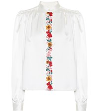 Alexachung Embroidered Crepe Blouse White