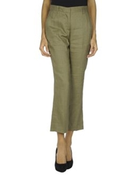 Irma Bignami Casual Pants Military Green