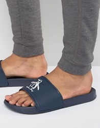 Original Penguin Slider Flip Flops Blue