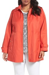 Michael Michael Kors Plus Size Women's A Line Jacket Hot Coral