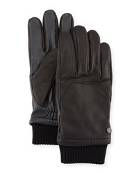 Canada Goose Workman Leather Tech Gloves Black