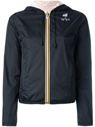 N 21 No21 Embroidered Logo Reversible Jacket Black