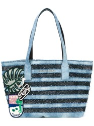 Marc Jacobs Denim Wingman Tote Blue