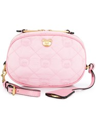 Moschino Teddy Quilted Belt Bag Pink