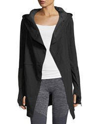 Blanc Noir Traveler Long Jacket W Leather Trim Black