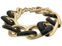 Michael Kors Autumn Luxe Acetate And Stainless Steel Curb Link Bracelet Gold Bracelet