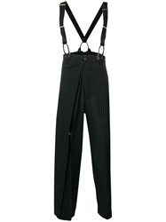 Jean Paul Gaultier Vintage Flappy Pinstriped Trousers Black