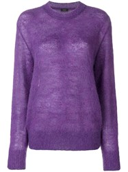 Joseph Mohair Knit Pink And Purple