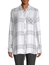 Beach Lunch Lounge Plaid Long Sleeve Shirt Multi