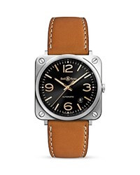 Bell And Ross Br S Golden Heritage Watch 39Mm Black Brown