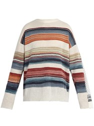 Y Project Double Layered Norwegian Wool Blend Sweater White