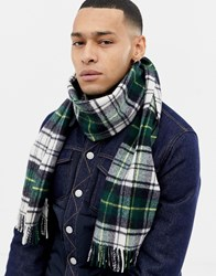 Weekday Meridian Scarf In Green Check Green Check