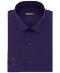 Unlisted Kenneth Cole Men's Slim Fit Solid Dress Shirt Purple