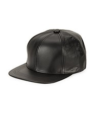 Marcus Adler Leather Baseball Cap Black