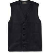 Filson Mackinaw Virgin Wool Gilet Midnight Blue