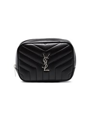 Saint Laurent Black Lou Lou Leather Cosmetic Bag