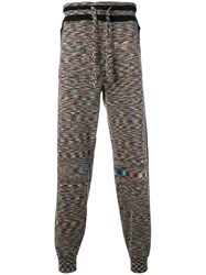 Missoni Fine Knit Track Trousers Black