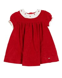 Mayoral Cap Sleeve Polka Dot A Line Dress Red