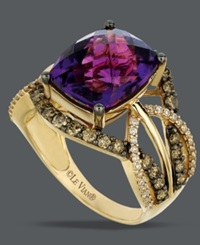 Le Vian Amethyst 4 5 8 Ct. T.W. And White And Chocolate Diamond 9 10 Ct. T.W. Ring In 14K Gold