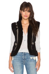 Twelfth St. By Cynthia Vincent Hendrix Faux Fur Vest Black