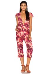 For Love And Lemons Sweet Jane Jumpsuit Red