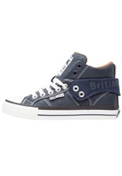 British Knights Roco Hightop Trainers Navy Cognac Dark Blue