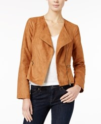 Maison Jules Faux Suede Moto Jacket Only At Macy's Ginger Crisp