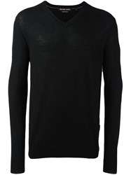 Michael Kors V Neck Pullover Black