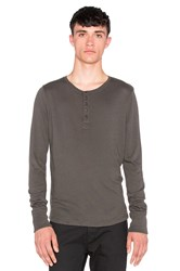 Joe's Jeans Sira Long Sleeve Henley Luxe Sweater Knit Charcoal