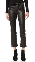 J Brand Selena Cropped Leather Pants Noir