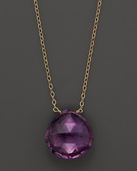 Bloomingdale's Amethyst Heart Shaped Briolet Necklace 17 Purple