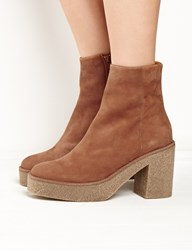Pixie Market Miista Brown Suede Alix Fitted Ankle Boots