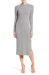 Ag Jeans Women's 'Reign' Merino Wool And Cashmere Sweater Midi Dress Medium Heather Grey