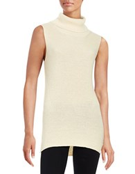 French Connection Knit Turtleneck Tunic Natural