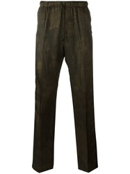Dries Van Noten Tonal Floral Print Trousers Black