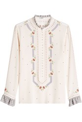 Vilshenko Silk Blouse With Embroidery